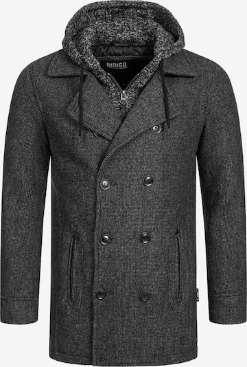 INDICODE JEANS Winterjas 'Cliff Jacke' in de kleur Zwart, Productweergave
