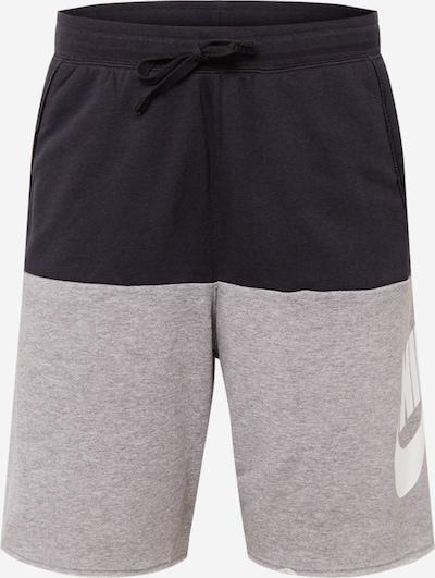 Pantaloni 'Alumni' Nike Sportswear pe gri amestecat / negru / alb, Vizualizare produs