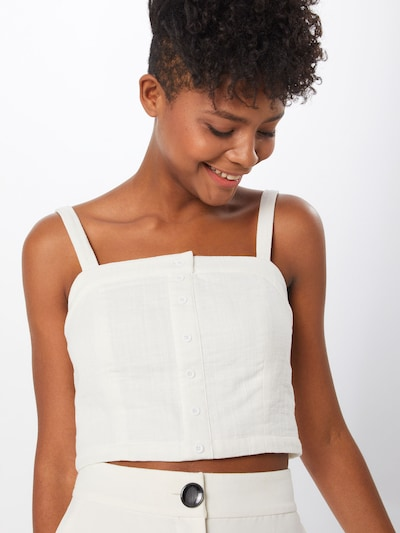 Review Top 'CROPPED SMOCK BL' in offwhite, Modelansicht