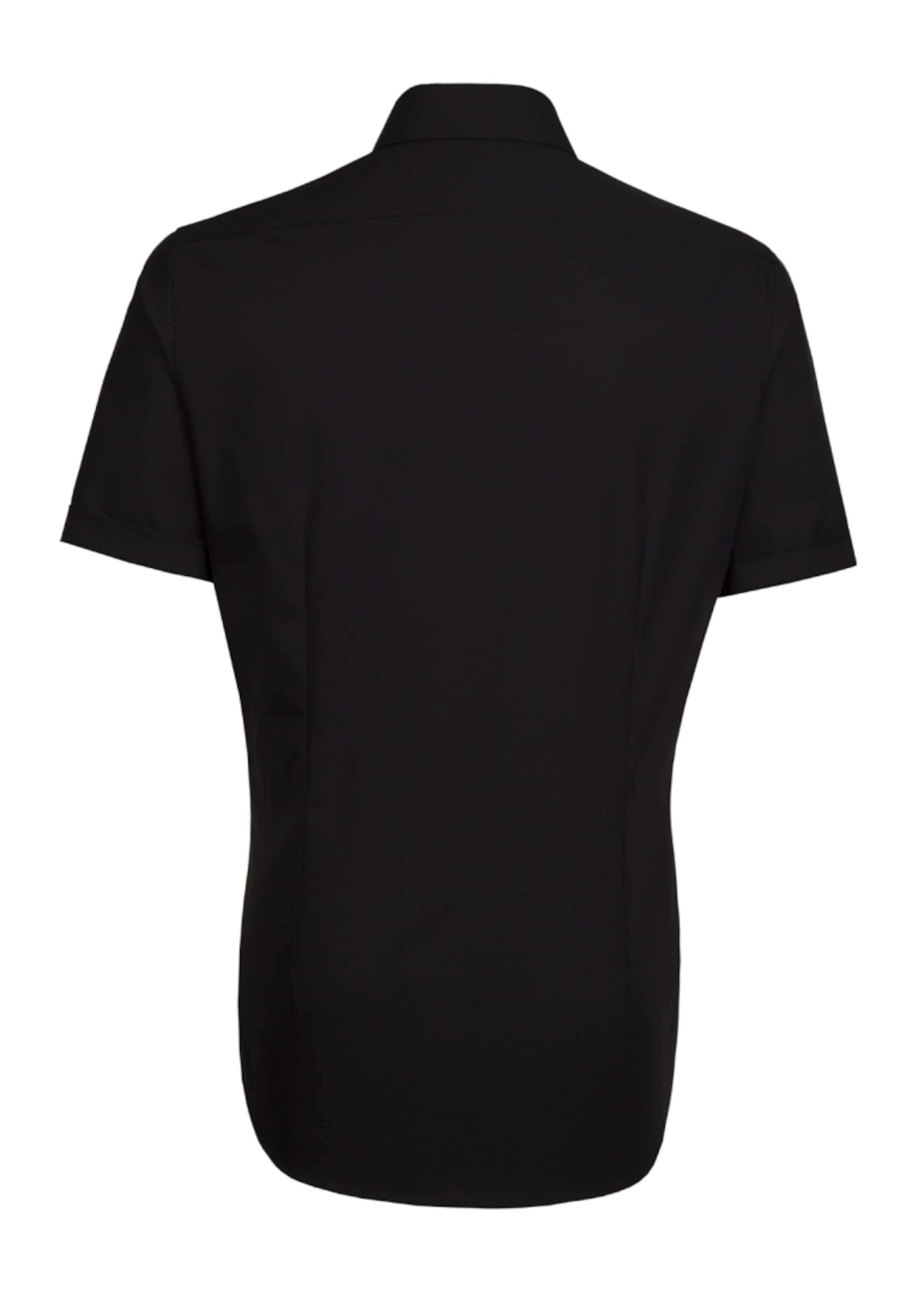 Schwarz In hemd City Seidensticker 'tailored' CxeroWdB