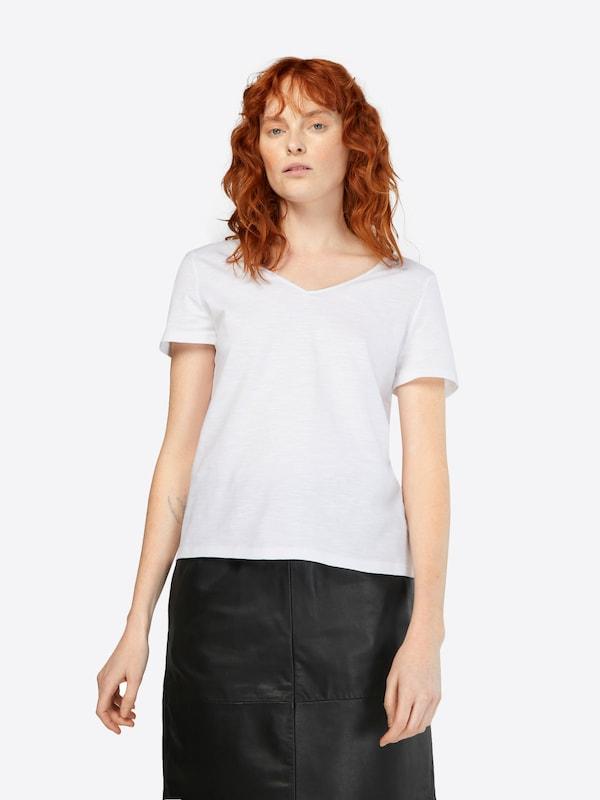 Blanc En 'lacing Esprit shirt Tee' T KTFJcl31