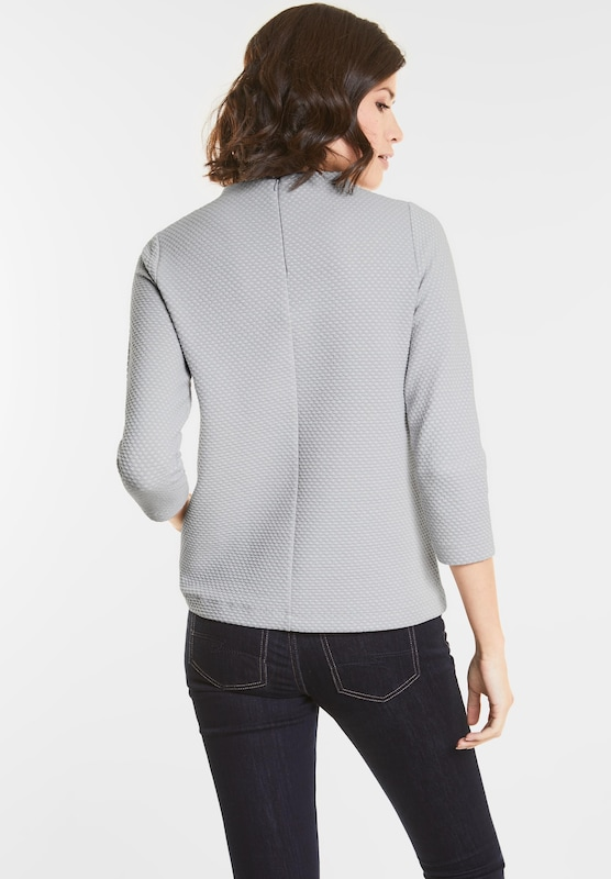 Street One Turtle-neck Pullover With Pattern