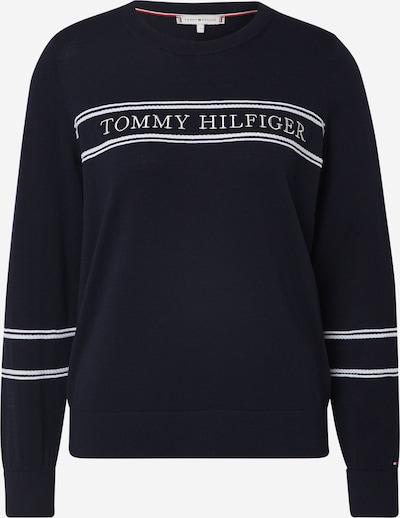 TOMMY HILFIGER Pullover 'Benji' in dunkelblau / weiß, Produktansicht