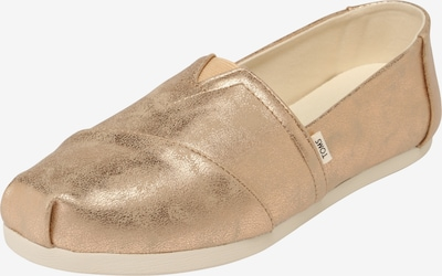 TOMS Slipper 'ALPARGATA' in gold, Produktansicht