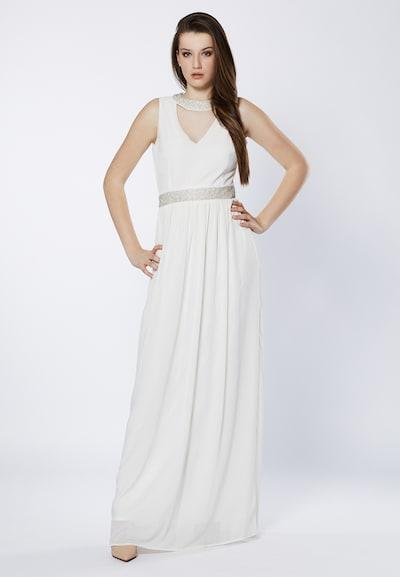 Young Couture by BARBARA SCHWARZER Robe de soirée en blanc: Vue de face