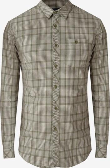 Finn Flare Langarmhemd in creme / khaki, Produktansicht
