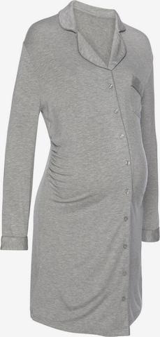 LASCANA Umstandsnachthemd in Grau
