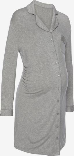 LASCANA Umstandsnachthemd in graumeliert, Produktansicht