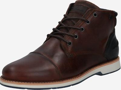 BULLBOXER Buty sznurowane w kolorze ciemnobrązowy / czarnym, Podgląd produktu