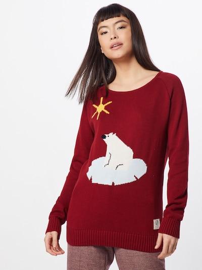 bleed clothing Sweter 'Better Climate Sweater Ladies' w kolorze czerwone winom: Widok z przodu