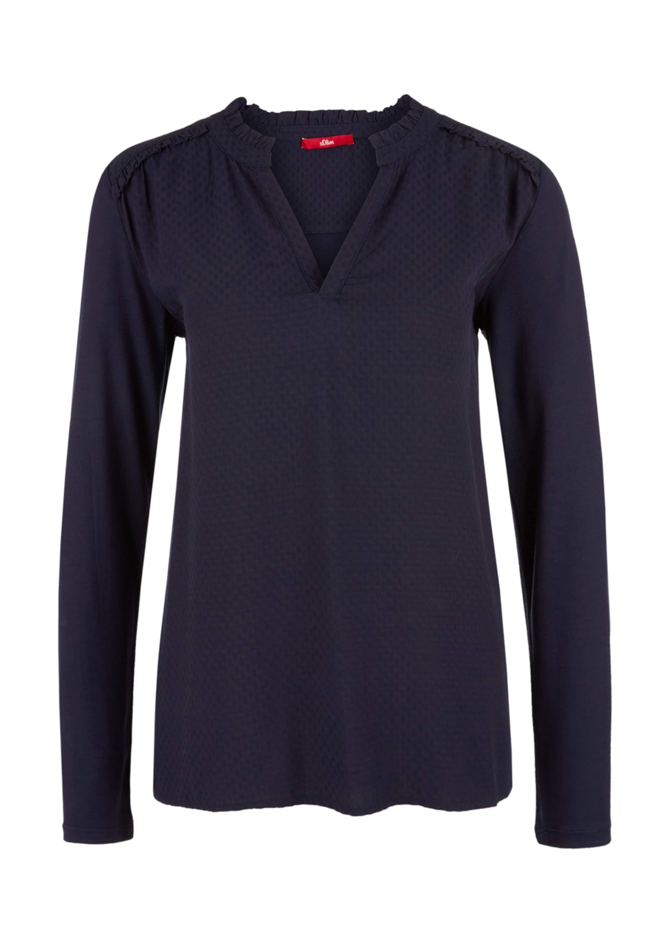 S Rüschen Label Nachtblau Mit Blusenshirt oliver Red In hdBsQtCrxo