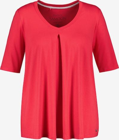 SAMOON T-Shirt Kurzarm Rundhals T-Shirt in A-Linie in rot, Produktansicht