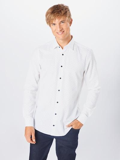 JOOP! Biznis košeľa 'Pierre' - tmavomodrá / biela: Pohľad spredu