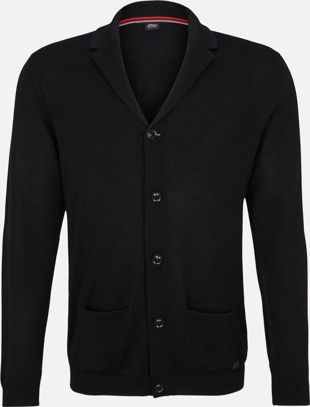 s.Oliver BLACK LABEL Strickjacke true black