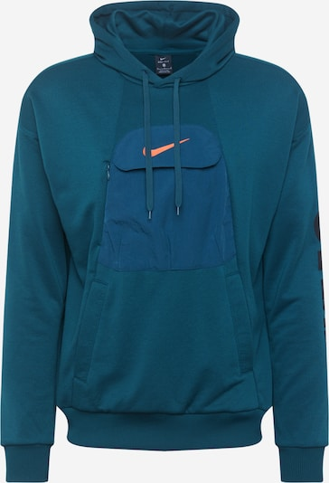 NIKE Sportska sweater majica u petrol / narančasta / crna, Pregled proizvoda