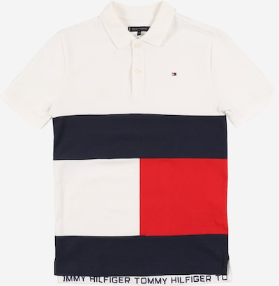TOMMY HILFIGER Shirt 'COLORBLOCK FLAG POLO S/S' in weiß, Produktansicht