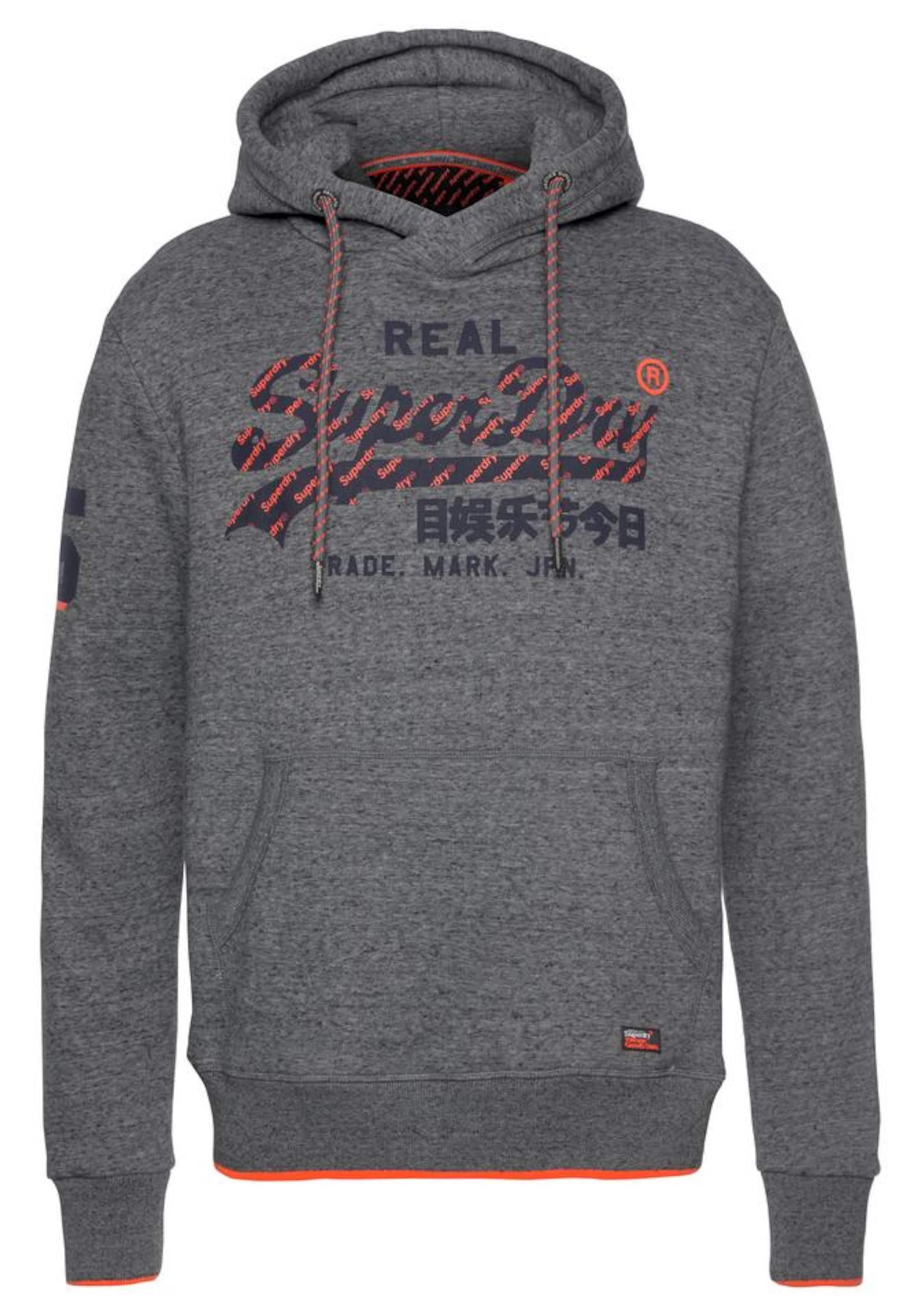 Koralle 'vintage NavyDunkelgrau Logo' Sweatshirt Superdry In c1lKFJ