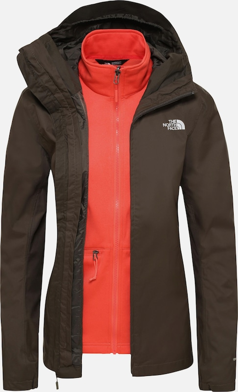 THE NORTH FACE Doppeljacke in khaki / orange, Produktansicht