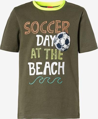 s.Oliver Junior T-Shirt in gelb / grün, Produktansicht