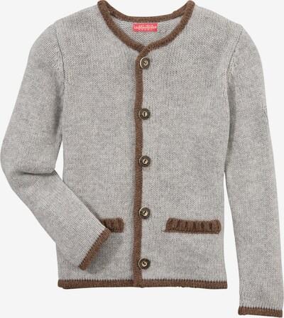 BONDI Strickjacke in braun / grau, Produktansicht
