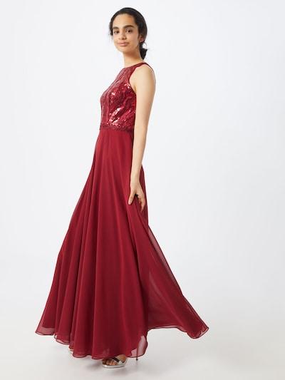 mascara Abendkleid 'SEQUIN LACE' in weinrot, Modelansicht