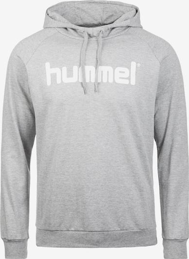 Hummel Sportsweatshirt in graumeliert / weiß, Produktansicht