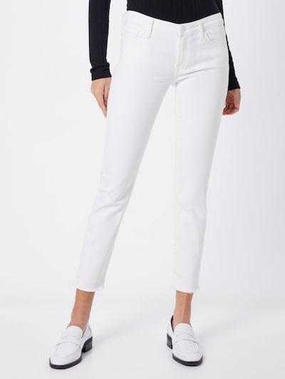 7 for all mankind Jeans 'PYPER CROP UNROLLED SLIM ILLUSION' in white denim, Modelansicht