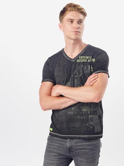 CAMP DAVID T-Shirt in neongelb / dunkelgrau: Frontalansicht