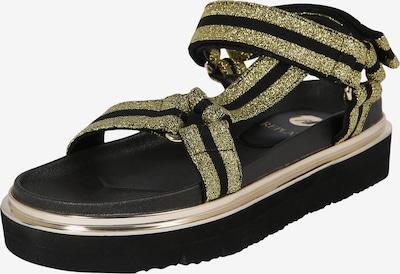 REPLAY Sandały z rzemykami 'Hyndem' w kolorze złoty / czarnym, Podgląd produktu