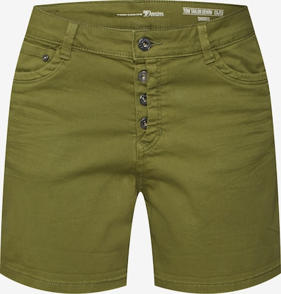 TOM TAILOR DENIM Shorts 'Cajsa' in oliv, Produktansicht