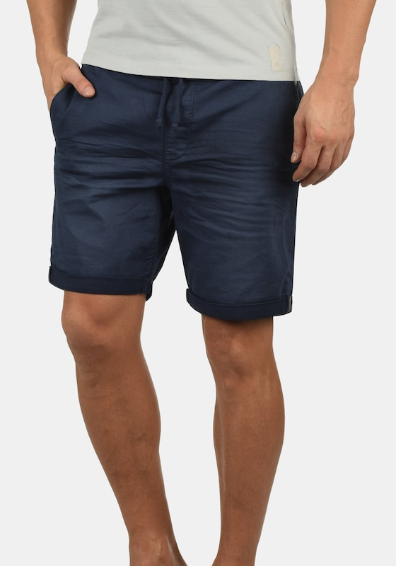 BLEND Chinoshorts 'Dongo' in navy: Frontalansicht