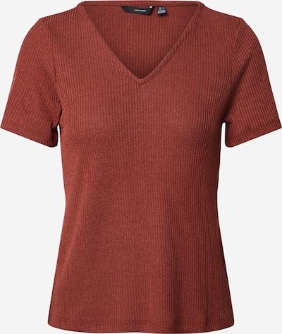 VERO MODA Shirt 'VMHANNA SS V-NECK TOP JRS' in rostbraun, Produktansicht