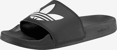 ADIDAS ORIGINALS Badeschuh 'Adilette Lite' in schwarz / weiß, Produktansicht