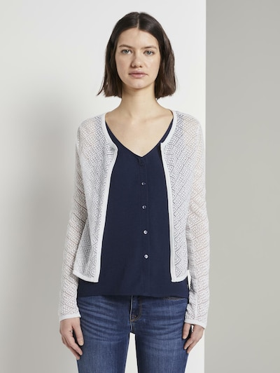 TOM TAILOR DENIM Cardigan in weiß, Modelansicht