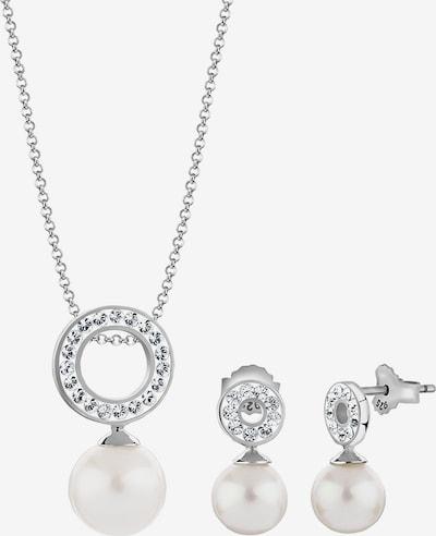 Nenalina Sieraden set in de kleur Zilver / Parelwit, Productweergave