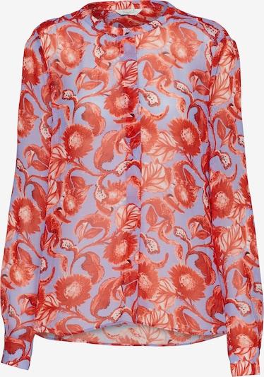 Bluză 'Mystic flower basic blouse' Frogbox pe mov deschis / roșu, Vizualizare produs