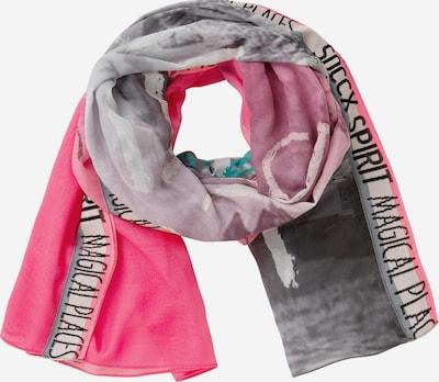 Soccx Webschal in grau / pink, Produktansicht