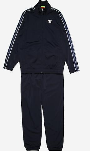 Champion Authentic Athletic Apparel Jooksudress 'Full Zip Suit', värv sinine