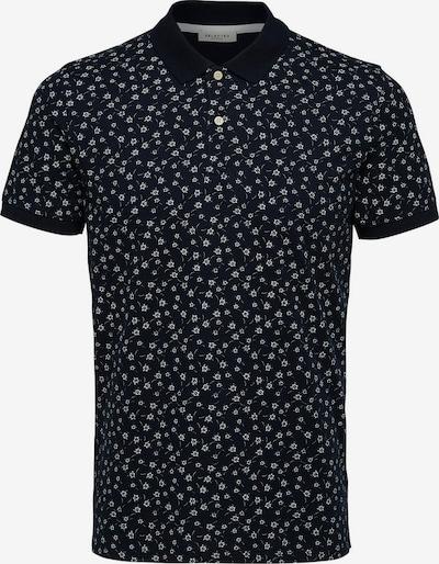 SELECTED HOMME Bedrucktes Poloshirt in navy, Produktansicht