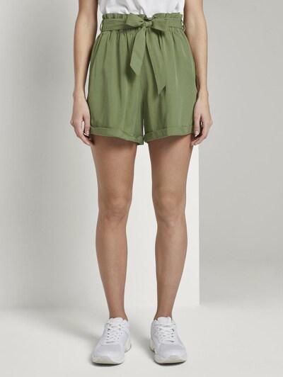 TOM TAILOR DENIM Shorts in grün, Modelansicht