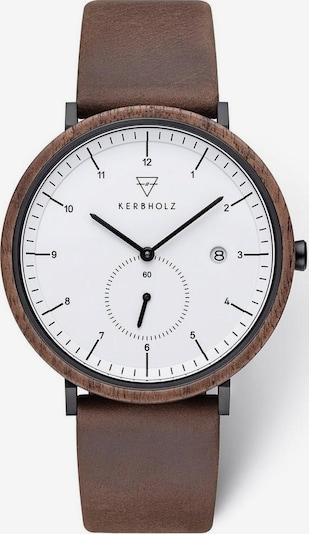Kerbholz Uhr 'Anton Walnut' in kastanienbraun, Produktansicht