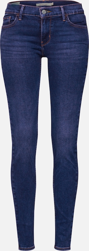 Jean Bleu Levi's '710 Super En Skinny' Innovation Denim 7yYbf6gvI