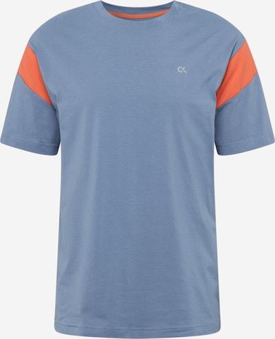 Calvin Klein Performance Sport-Shirt in rauchblau / basaltgrau / koralle, Produktansicht