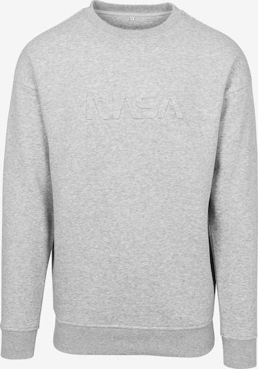 Mister Tee Sweatshirt 'Embossed NASA Worm' in de kleur Grijs gemêleerd, Productweergave