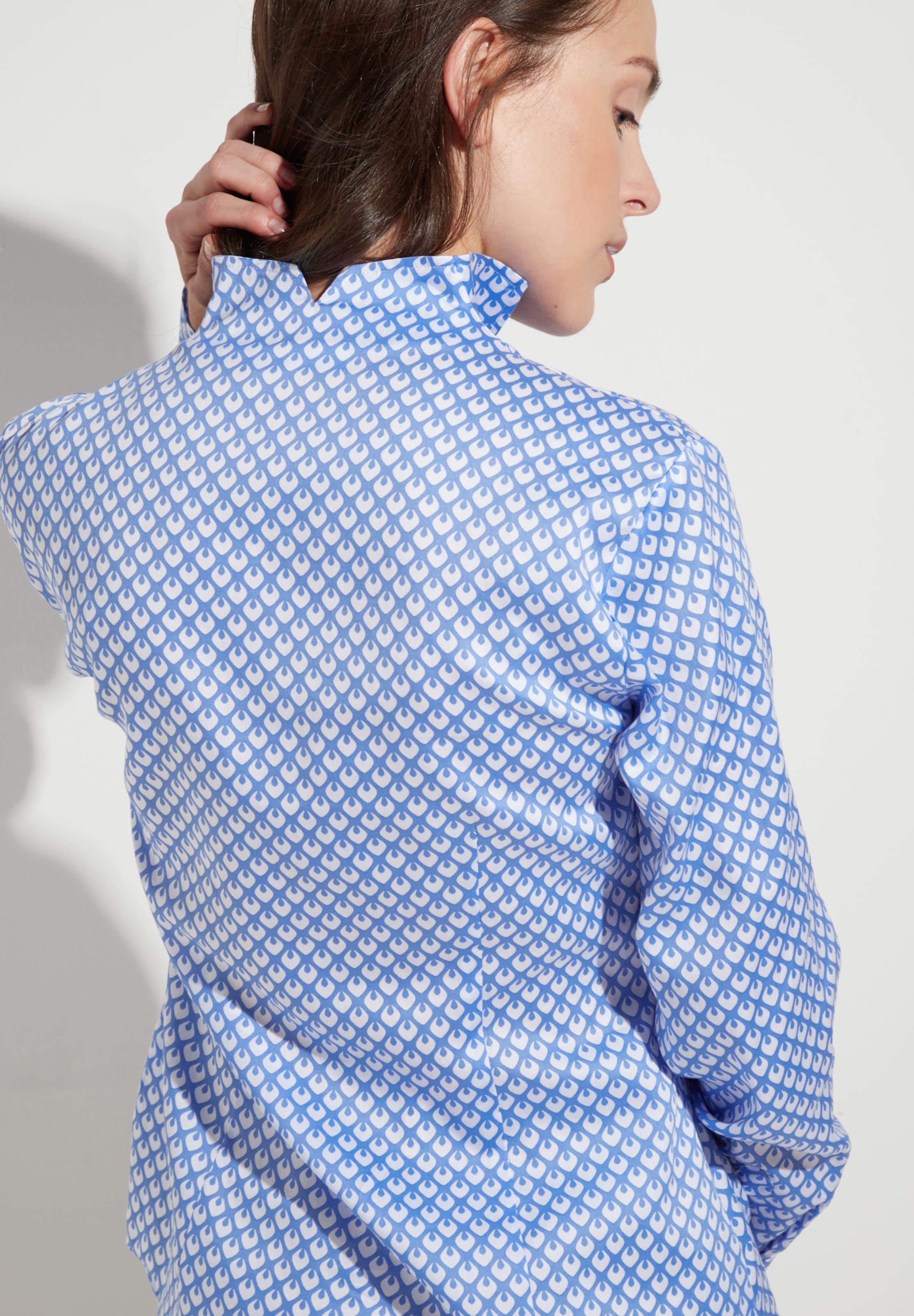 Mischfarben Modern Langarm Classic Bluse In Eterna hQsCtdr