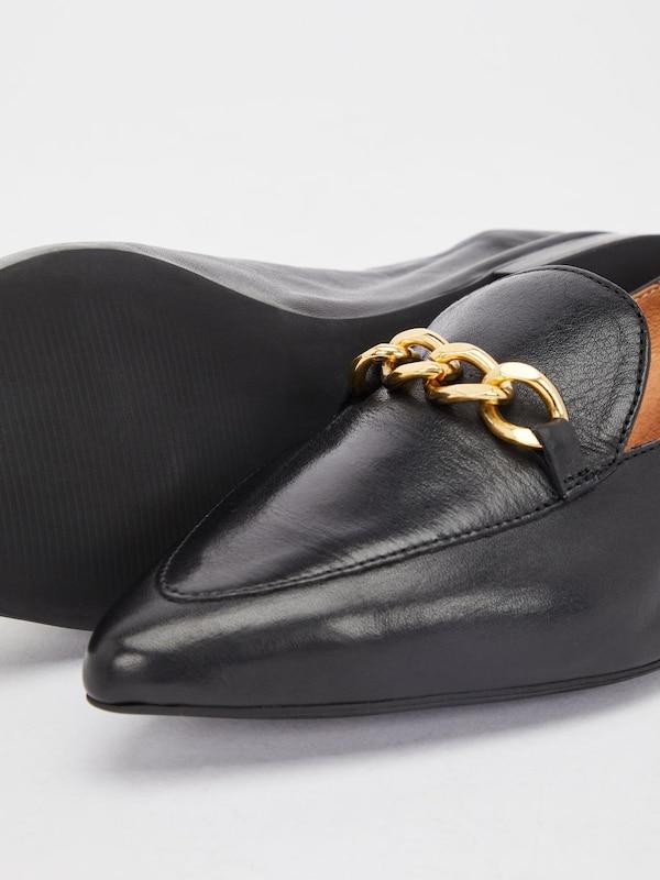 Bianco Elegant Chains Low Shoes