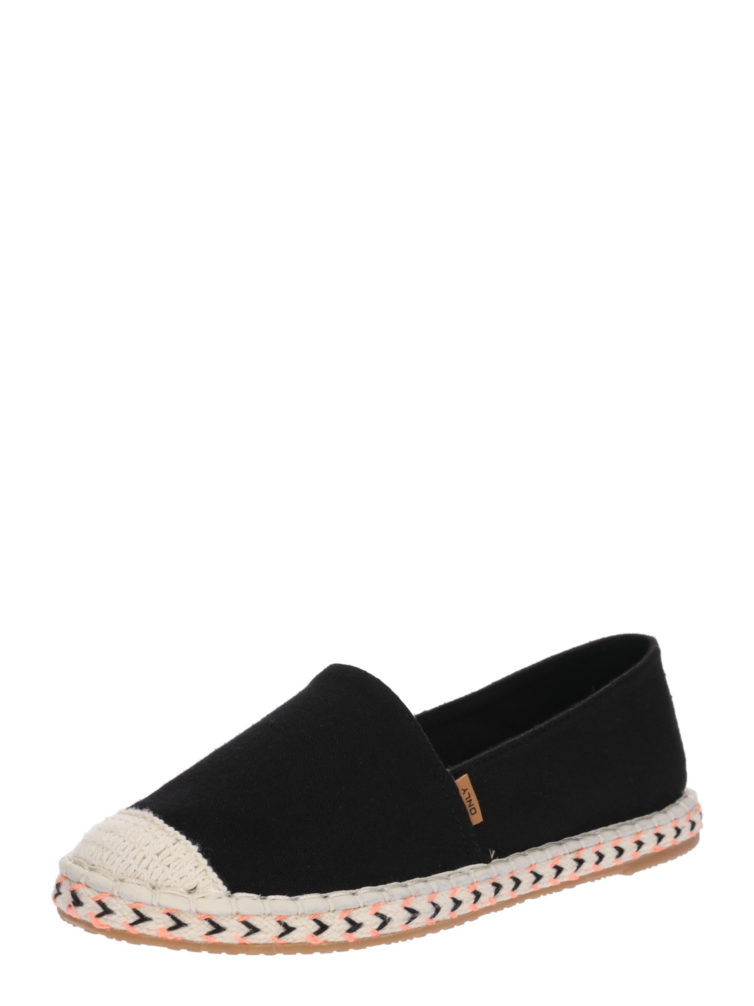 ONLY | Espadrille mit getragene bestickter Sohle Schuhe Gut getragene mit Schuhe ac3d4c