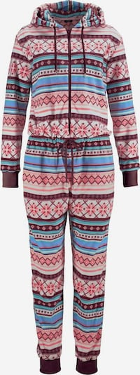 BENCH Relax-Jumpsuit mit buntem Norwegermuster in mischfarben: Frontalansicht