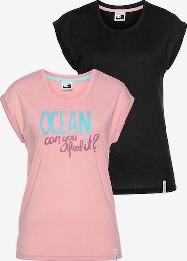 OCEAN SPORTSWEAR T-Shirt in altrosa / schwarz: Frontalansicht