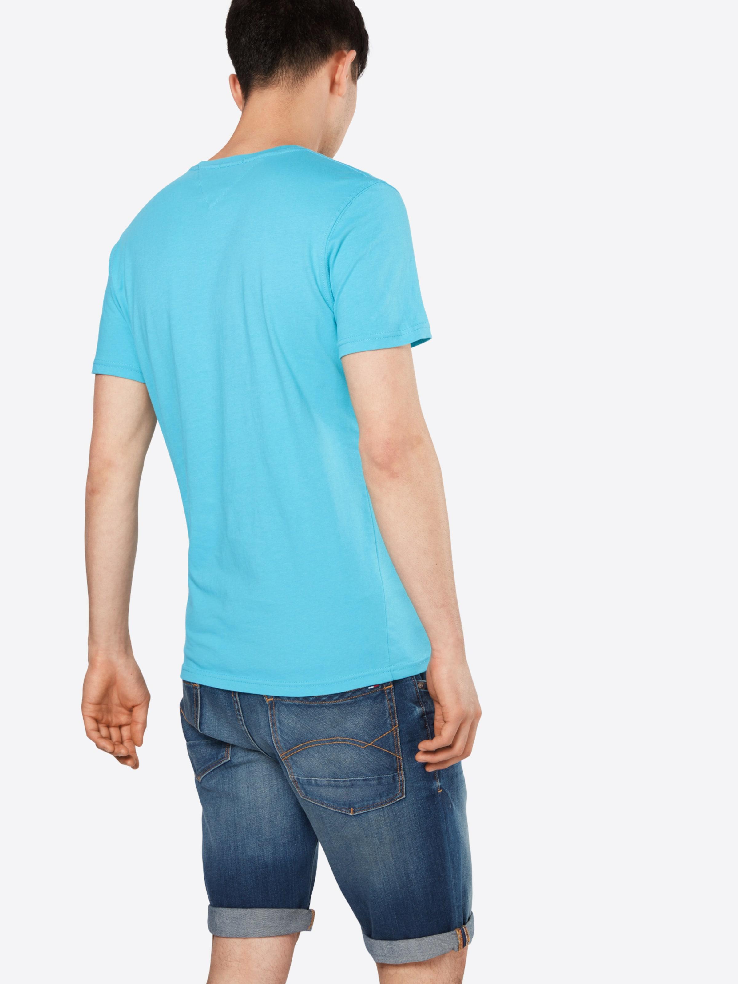 Tommy Jeans Logo-Shirt mit Print Rabatt 4e0gViz